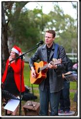 Andy and Jo at Carols 2010