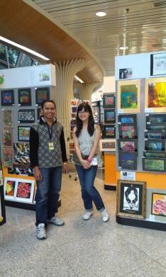 Malaysian artist at KLIA
